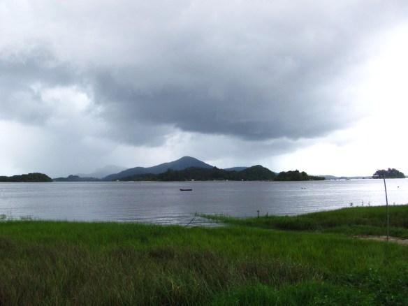Vista da Baía da Babitonga a partir da Pousada