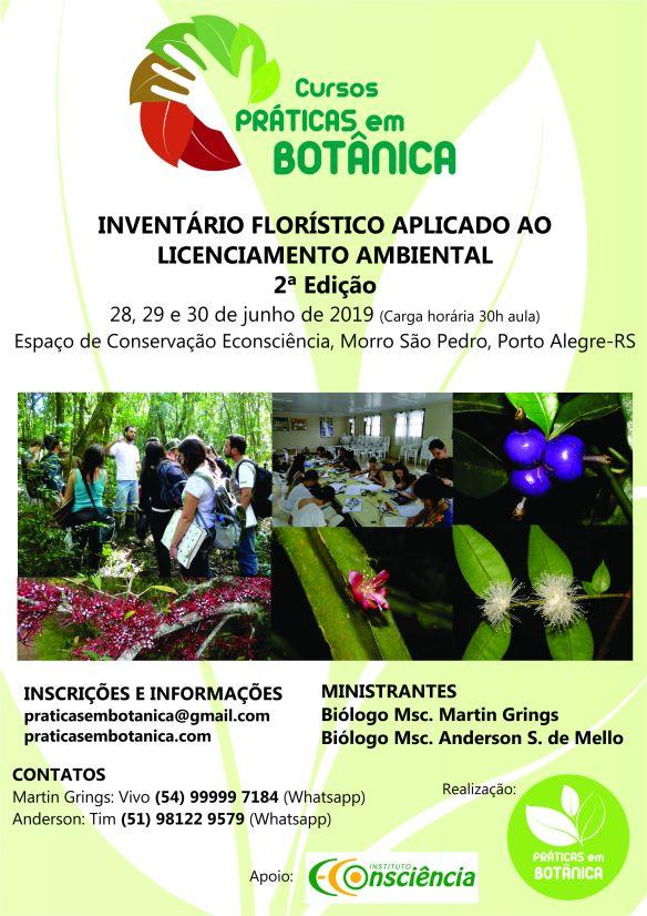 Cartaz Inventário Florístico - Porto Alegre 2019