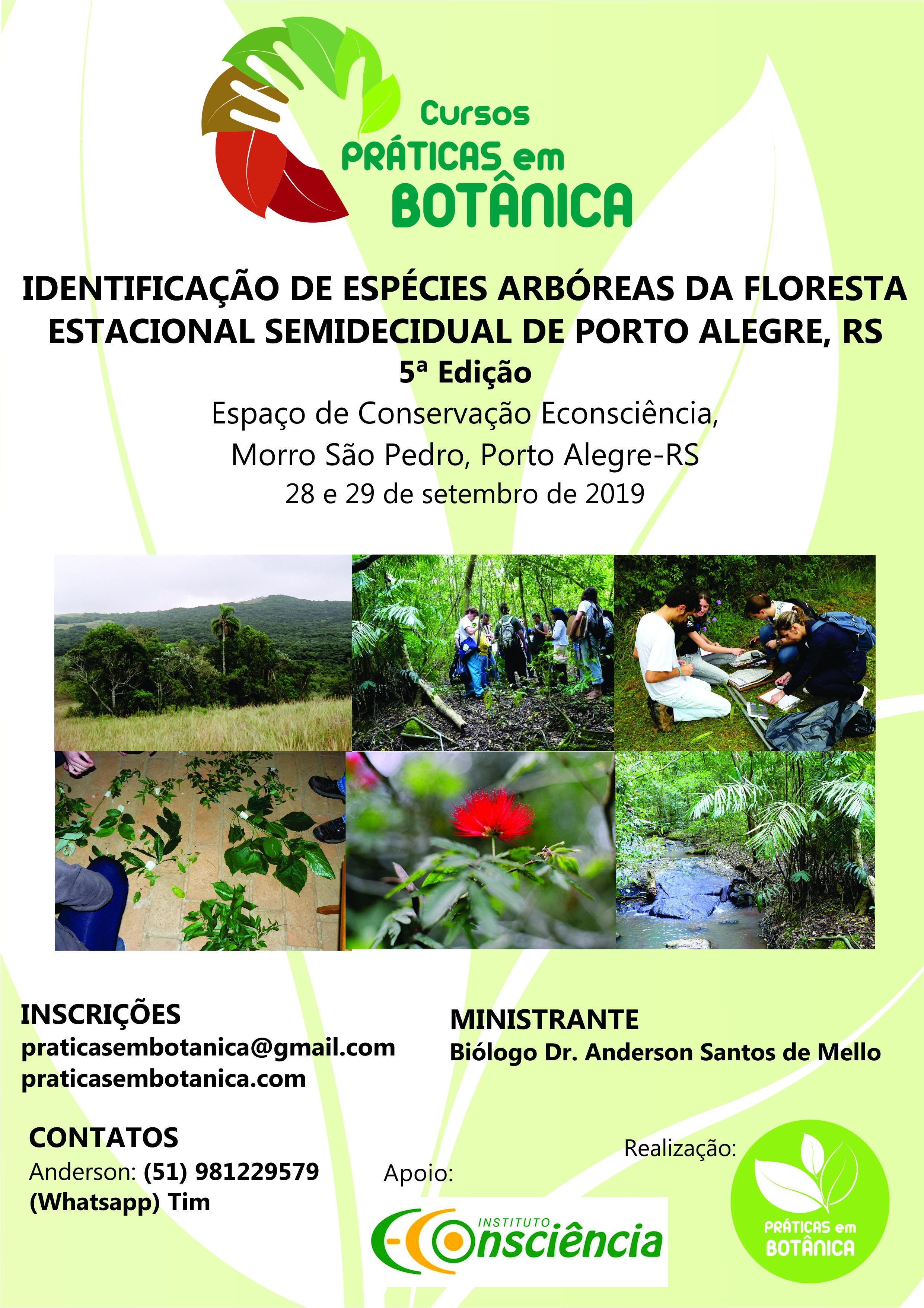 Cartaz Curso Identificação Porto Alegre 2019 - quinta edição