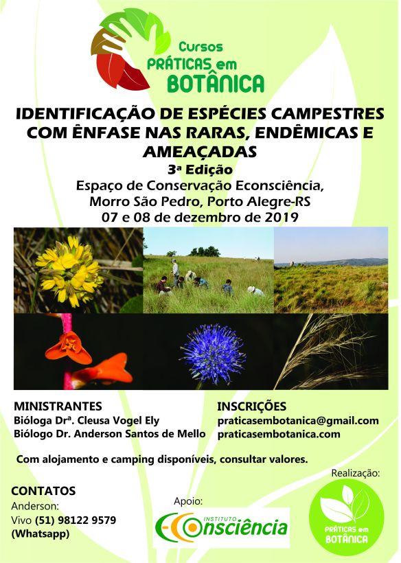 Cartaz Curso Identificação Campestres Porto Alegre_2019